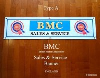 BMC SALES & SERVICE BANNER FLAG/BMC バナー フラッグ 旗 Type A