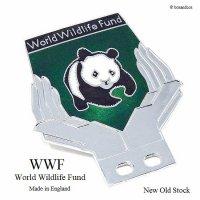 貴重!デッドストック 1960-80年代 WWF World Wildlife Fund メンバーズ カーバッジ パンダ