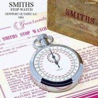 1964年SMITHS/スミス ストップウォッチ 初期 旧ロゴ 刻印 ギャランティー・BOX