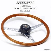 <img class='new_mark_img1' src='https://img.shop-pro.jp/img/new/icons13.gif' style='border:none;display:inline;margin:0px;padding:0px;width:auto;' />1960's SPEEDWELL FORMULA WOOD/スピードウェル フォーミュラー ウッド ステアリング 48スプラインボス MINI