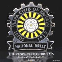 貴重!1959年 THE VESPA CLUB OF BRITAIN  NATIONAL RALLY LEEDS ベスパ クラブ ラリー COGバッジ