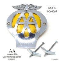 当時物 オリジナル AA グリル バッジ 8C98595 (1962-1963) フィティング付