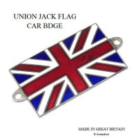 <img class='new_mark_img1' src='https://img.shop-pro.jp/img/new/icons13.gif' style='border:none;display:inline;margin:0px;padding:0px;width:auto;' />当時物 UNION JACK FLAG/ユニオンジャック 七宝製 カーバッジ
