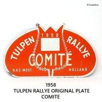 1958年 TULPEN RALLYE ORIGINAL PLATE COMITE/チューリップラリー オリジナルラリープレート コミッティー