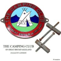 貴重! THE CAMPING CLUB OF GREAT BRITAIN グリルバッジ J.R.GAUNT製