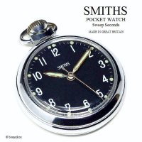 <img class='new_mark_img1' src='https://img.shop-pro.jp/img/new/icons13.gif' style='border:none;display:inline;margin:0px;padding:0px;width:auto;' />1970's SMITHS POCKET WATCH Sweep Seconds /スミス 懐中時計 SV/BK