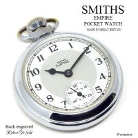 <img class='new_mark_img1' src='https://img.shop-pro.jp/img/new/icons13.gif' style='border:none;display:inline;margin:0px;padding:0px;width:auto;' />1950's SMITHS EMPIRE POCKET WATCH Back Engraved/スミス エンパイア 懐中時計 刻印 SV/GY