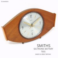 1960's SMITHS SECTRONIC WOOD CLOCK TEES/スミス ウッド置時計 クォーツムーブメント