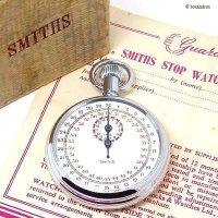 1950-60's SMITHS STOP WATCH/スミス ストップウォッチ 極初期 旧ロゴ ギャランティー・BOX  -A-
