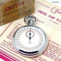 1950-60's SMITHS STOP WATCH/スミス ストップウォッチ 極初期 旧ロゴ ギャランティー・BOX  -B-