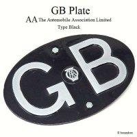 レア!50-60's 英国 GBプレート AA オリジナル BLACK