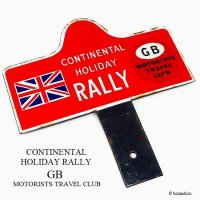 <img class='new_mark_img1' src='https://img.shop-pro.jp/img/new/icons13.gif' style='border:none;display:inline;margin:0px;padding:0px;width:auto;' />貴重!VINTAGE CONTINENTAL HOLIDAY RALLY ORIGINAL PLATE/コンチネンタル・ホリデー・ラリープレート