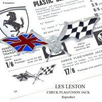 LES LESTON CHECK FLAG UNION JACK Reproduct/レス レストン チェッカーフラッグ ユニオンジャック グリルバッジ