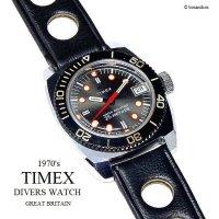1970's Vintage TIMEX  DIVERS DATE/英国 ビンテージ タイメックス ダイバーズ デイト 腕時計