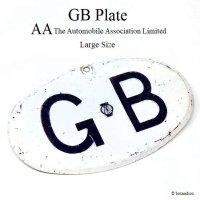 50's 英国 GBプレート AA ラージサイズ 当時物