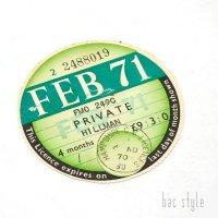 1971年 HILLMAN/ヒルマン TAX DISC タックスディスク(FEB)