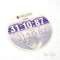 1987年 LEYLAND/レイランド TAX DISC タックスディスク(10月)
