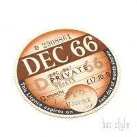 1966年 MORRIS/モーリス TAX DISC タックスディスク(DEC)