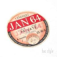 1964年 MORRIS/モーリス TAX DISC タックスディスク(JAN)