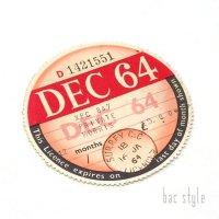 1964年 MORRIS/モーリス TAX DISC タックスディスク(DEC)
