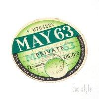 1963年 MORRIS/モーリス TAX DISC タックスディスク(MAY)