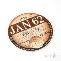 1962年 MORRIS/モーリス TAX DISC タックスディスク(JAN)