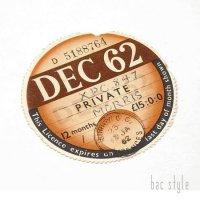 1962年 MORRIS/モーリス TAX DISC タックスディスク(DEC)