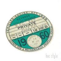 1960年 MORRIS/モーリス TAX DISC タックスディスク(DEC)