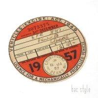 1957年 MORRIS/モーリス TAX DISC タックスディスク(DEC)