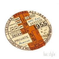 1955年 MORRIS/モーリス TAX DISC タックスディスク(DEC)