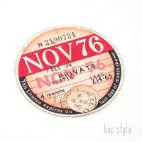 1976年 AUSTIN/オースチン TAX DISC タックスディスク(NOV)