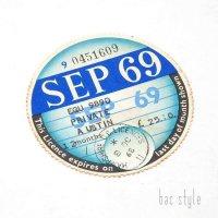 1969年 AUSTIN/オースチン TAX DISC タックスディスク(SEP)