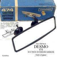 DESMO 474 SUCTION INTERIOR MIRROR/デスモ W吸盤 インテリア ルームミラー デッドストック 箱入