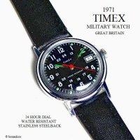 1971年 Vintage TIMEX MILITARY DATE/英国 ビンテージ タイメックス ミリタリー 腕時計