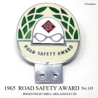 1965年 ROAD SAFETY AWARD by SHELL B.P No.145 カーバッジ
