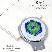 RAC/Royal Automobile Club  Auto-Cycle Union (ACU) Instructor カーバッジ デッドストック RENAMEL製