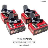 当時物 CHAMPION WCX600/チャンピオン プラグキャップ デッドストック 4個SET 箱付