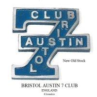 貴重!1960's BRISTOL AUSTIN 7 CLUB/オースチン セブン クラブ カーバッジ デッドストック未使用