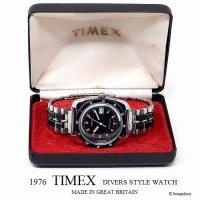 1976年 Vintage TIMEX  DIVERS STYLE DATE/英国 ビンテージ タイメックス ダイバーズ デイト 腕時計 オリジナルBOX