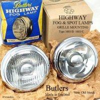 貴重!60's BUTLERS HIGHWAY FOG & SPOT LAMPS SET/バトラー フォグ&スポットランプ セット デッドストック BOX