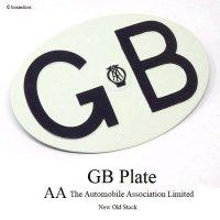 60's 英国 GBプレート AA オリジナル デッドストック 未使用