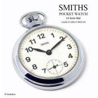 1960's SMITHS 24 HOUR DIAL POCKET WATCH/スミス 24時間ダイヤル 懐中時計 SV/IV