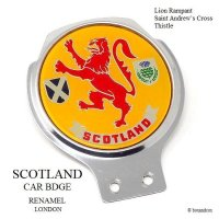 VINTAGE SCOTLAND CAR BADGE/スコットランド カーバッジ RENAMEL製