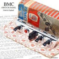 当時物 BMC SWITCH PANEL NOS/スイッチパネル 3スイッチ+ワーニングランプ+ピンプラグ&ソケット デッドストック BOX
