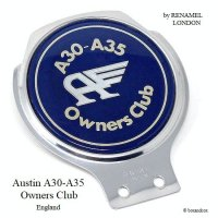 Austin A30-A35 Owners Club/オースチン Flyng A カーバッジ RENAMEL製