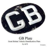 貴重!1950-60's 英国 ACE  GBプレート BLACK