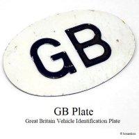 1950-60's 英国 GBプレート オリジナル