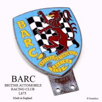1950-60's BARC/BRITISH AUTOMOBILE RACING CLUB 会員用カーバッジ No.L875