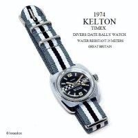 1974年 Vintage KELTON-TIMEX  DIVERS DATE RALLY/英国 ビンテージ ケルトン-タイメックス ダイバーズ デイト ラリー 腕時計