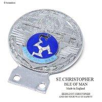 1960's ST.CHRISTOPHER ISLE OF MAN BLUE/セント・クリストファー マン島 カー バッジ ブルー